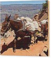 Mule Train Wood Print
