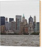 Multi Color Nyc Buildings Wood Print