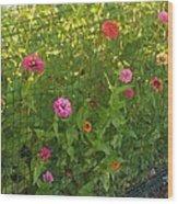 Multi-colored Flowers Wood Print