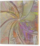 Multi Colored Pinwheel Wood Print
