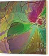 Multi Colored Rainbow Wood Print