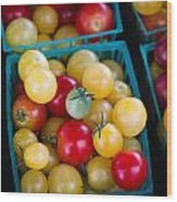 Multicolored Baby Tomatoes Wood Print
