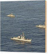 Multinational Navy Ships Move Wood Print