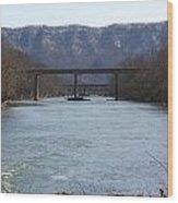 Multiple Bridges Crossing The Holston River Wood Print