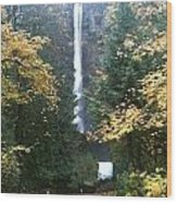 Multnomah Falls II Wood Print