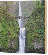 Multonoma Falls  Wood Print