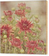 Mums The Word Wood Print