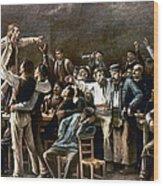 Munkacsy: Strike, 1895 Wood Print