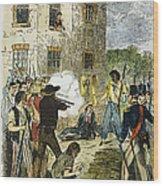 Murder Of Joseph Smith Wood Print