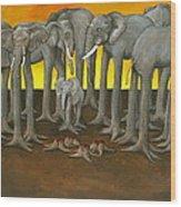 Murder The Wise Oh Ganesha Wood Print by David  Nixon