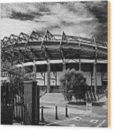 Murrayfield Stadium Edinburgh Rugby Scotland Wood Print by Joe Fox