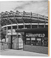 Murrayfield Stadium Edinburgh Scotland Uk United Kingdom Wood Print by Joe Fox