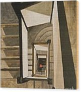 Museum Stairs Wood Print