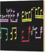 Musical Notes Wood Print