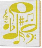 Musical Yellow Wood Print