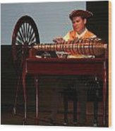 Musician And Glass Armonica Wood Print