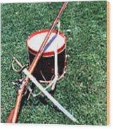 Musket Sword And Drum Wood Print