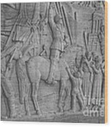 Mussolini, Haut-relief Wood Print by Photo Researchers