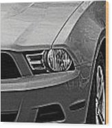 Mustang 002 Wood Print