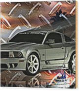 Mustang Saleen  Wood Print