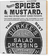 Mustard Ad, 1889 Wood Print