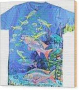 Mutton Snapper Mens Shirt Wood Print