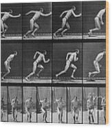 Muybridge Locomotion, Man Running, 1887 Wood Print