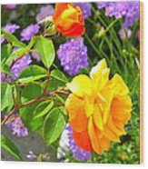 My Beautiful Roses Wood Print