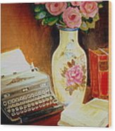 My Classic Royal Typewriter Memories Of Hemingway   Wood Print