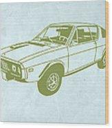 My Favorite Car 2 Wood Print by Naxart Studio