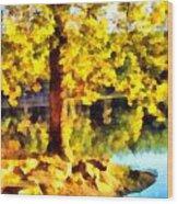 My Golden Tree Wood Print