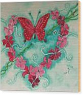 My Heart Has Been Pierced By Love Wood Print