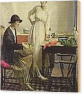 My Kitchen Wood Print by Harold Harvey