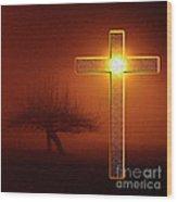 My Life Cross Wood Print