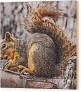 My Nut Wood Print