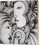 My Three Warriors Wood Print by Simona  Mereu