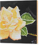 My Yellow Rose Wood Print