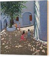 Mykonos Monastery Wood Print