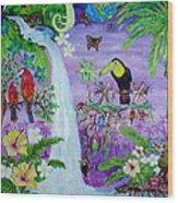 Mysterious Jungle Wood Print