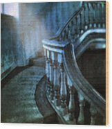 Mysterious Stairway In Old Mansion Wood Print