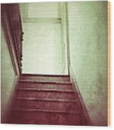 Mysterious Stairway Wood Print