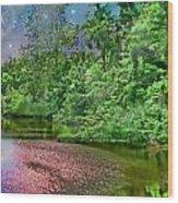 Mystic Lake Wood Print