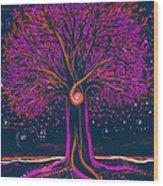 Mystic Spiral Tree 1 Pink By Jrr Wood Print