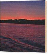 Mystic Sunset Wood Print