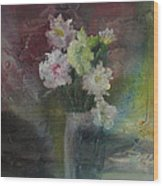 Mystical Flowers Wood Print