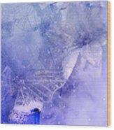 Mystical Garden- Butterflies In Blue Wood Print