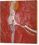 Myth Contemporary Leda And Swan 3 Wood Print