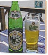 Mythos Beer Wood Print