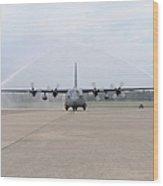 N Air Force C-130e Hercules Wood Print