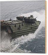 N Amphibious Assault Vehicle Departs Wood Print
